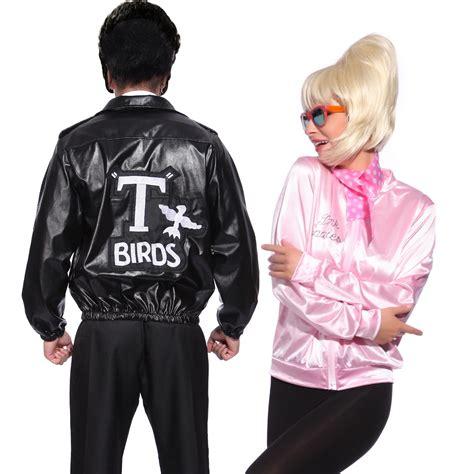 mens t bird grease jacket t birds jacket 1950 mens 50s black grease danny t