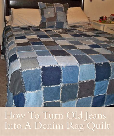 How To Make A Denim Quilt From by How To Turn Into A Denim Rag Quilt