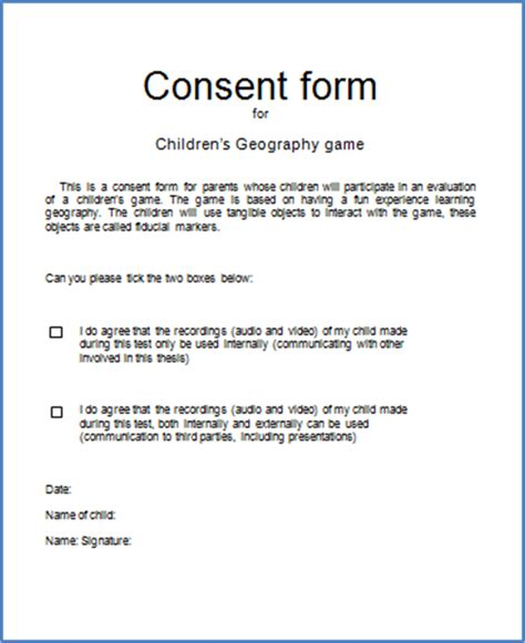 dissertation consent form consent form dissertation 28 images consent forms