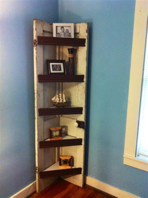 Corner Shelf Made From Door by Corner Shelf Made From An Wooden Door Office Ideas