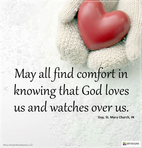 how to find comfort in god finding comfort in god s love and care saint mary s press
