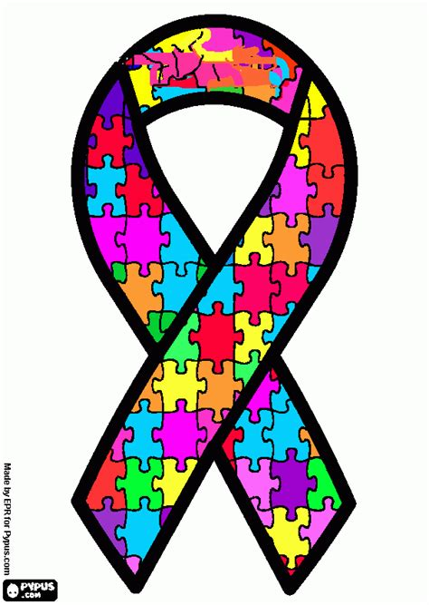 coloring page of autism ribbon autism ribbon color 28 images 2 autism awareness car