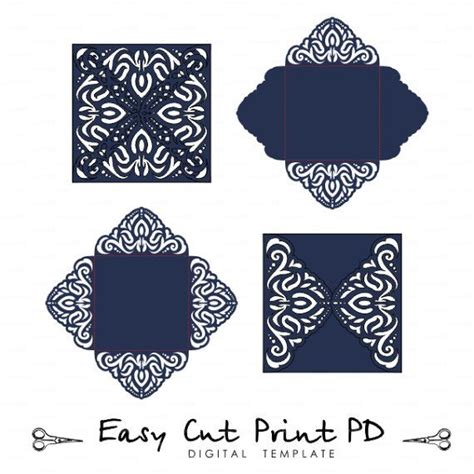 4 Fold Invitation Card Template by Lace Wedding Invitation Card Template Four Fold Envelope