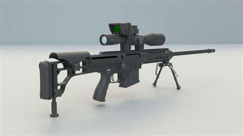 barrett m98b 3d model barrett sniper rifle