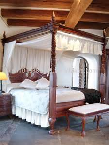 Solid Wood Canopy Bed by Chippendale Canopy Bed In Solid Wood Buy King Canopy