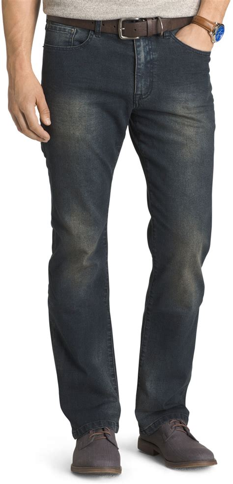mens stretch jeans with comfort waist izod mens comfort stretch relaxed fit jeans ebay