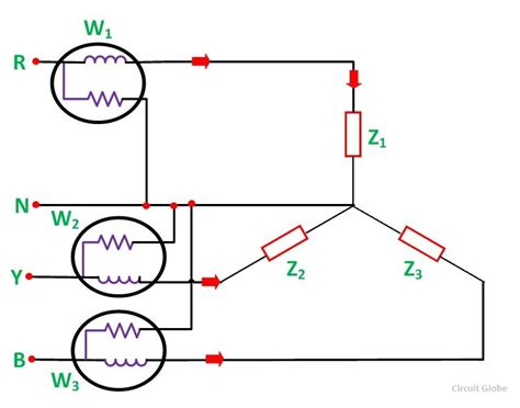 measurement of three phase power three wattmeter method