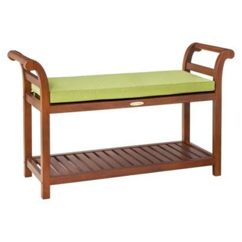 smith and hawken bench smith hawken mahogany entryway bench with slat shelf