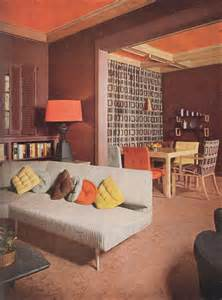 retro home interiors 1953 modern bungalow living room vintage interiors from