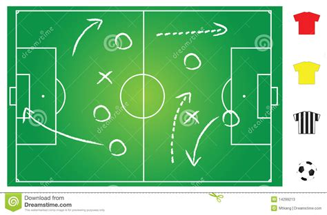layout strategy quiz soccer game play stock photos image 14299213