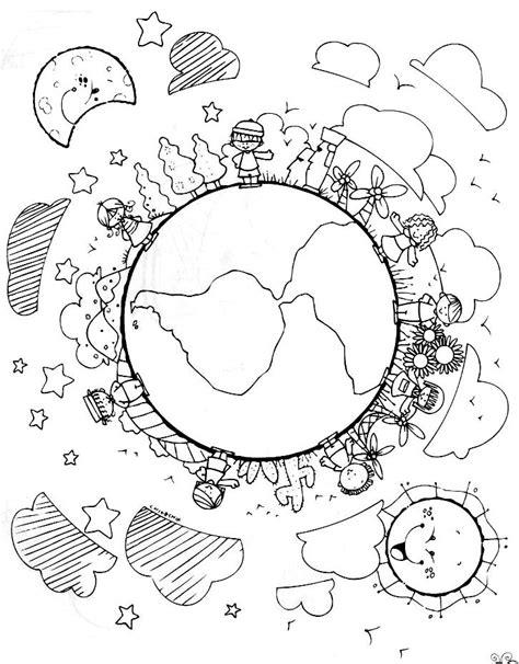 Desenhos para Colorir - Dia da Terra | Pra Gente Miúda