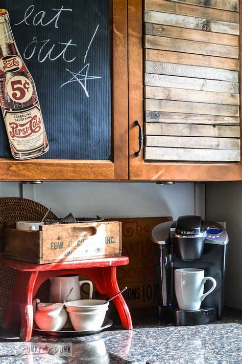 junkers unite with junky kitchen cabinets a pin board and