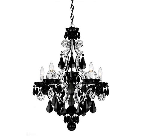 Lights And Chandeliers Photos Schonbek Cappela 5 Light White Chandelier In Chandeliers Black Chandelier