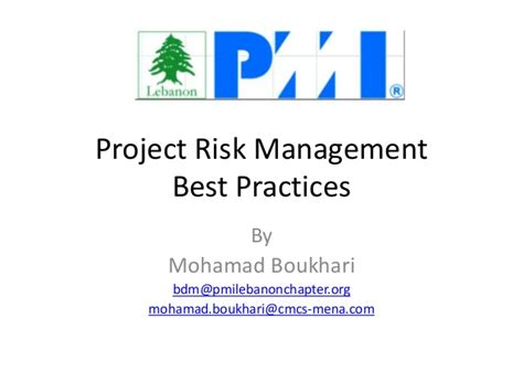 Best Project For Operation Management Mba by Risk Management Best Practices