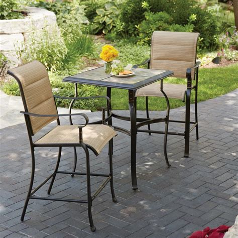 hton bay belleville 3 padded sling outdoor bistro