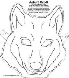 Big Bad Wolf Template free coloring pages of a wolf mask