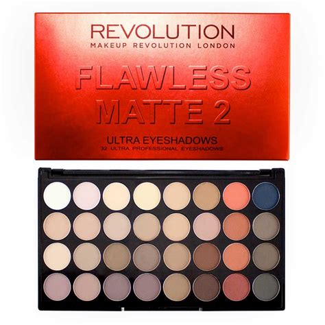 Original Brown Ultra Eyeshadow Palette Preloved revolution ultra 32 eyeshadow palette flawless matte 2 revolutionbeauty