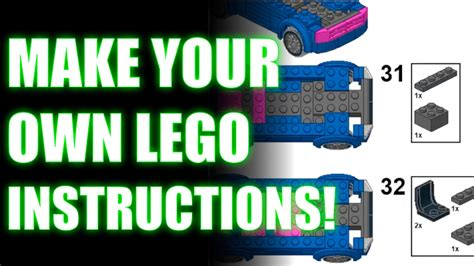 lego tutorial how to make your own brickfilm make your own lego instructions tutorial youtube