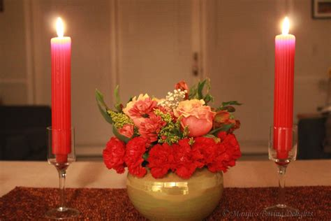 Dinner Candles Manju S Delights Our Valentines Day Candle Light