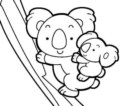 imagenes para colorear koala dibujo de madre koala para colorear dibujos del d 237 a de