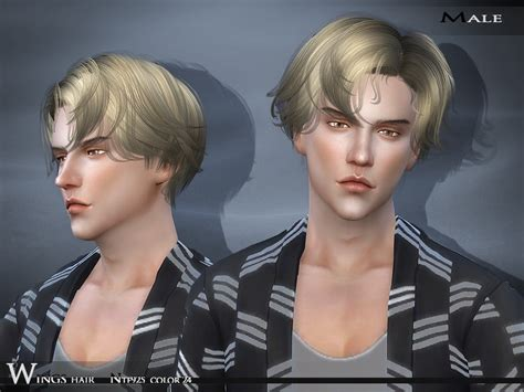 sims 4 cc guys hair wingssims wings hair sims4 ntf925 f m