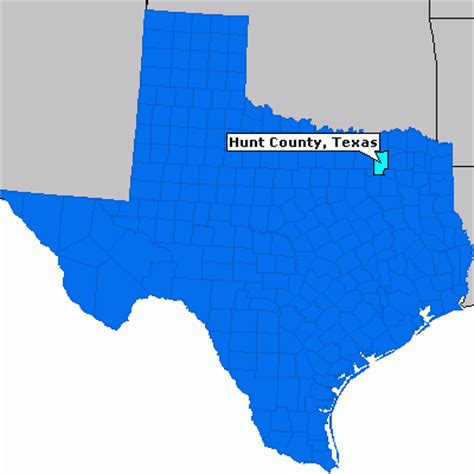 hunt county texas map hunt county texas county information epodunk