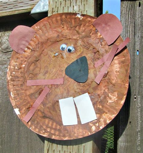 beaver crafts for kids ideas to make beavers with easy beaver paper plate craft for kids booking across the usa