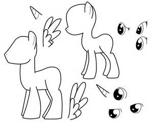 pony oc template mlp pegasus standing coloring pages