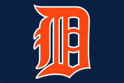 Kaos Baseball Detroit Tiger Logo 3 detroit tigers 2007 pres jersey logo decal sticker cad