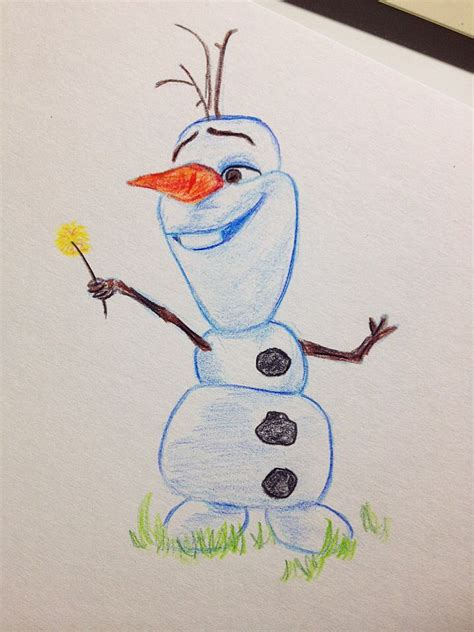 doodle draw olaf olaf frozen disney sketch drawing and