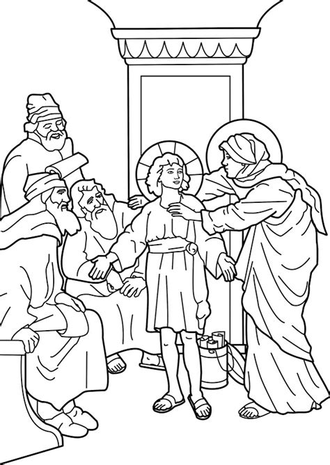 coloring pages jesus boy 為孩子們的著色頁 boy jesus in the temple
