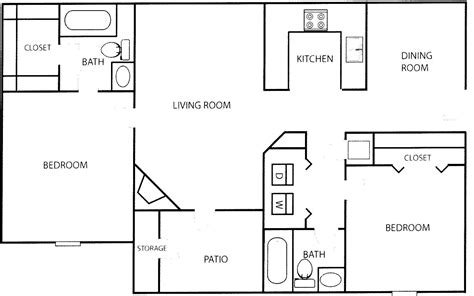 2 bedroom flat floor plan modern 2 bedroom house plans modern house