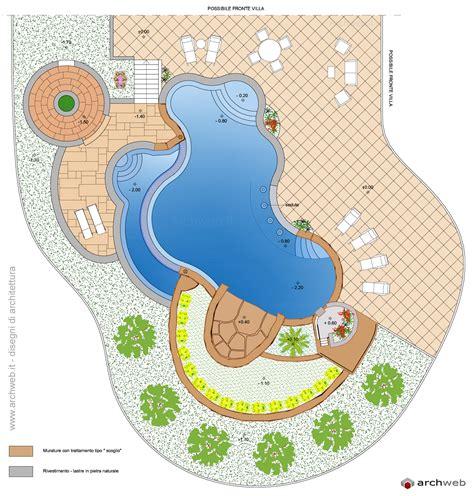 giardino dwg piscine per giardino