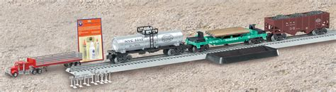 lionel fastrack operating track section new york central flyer operating freight expansion pack