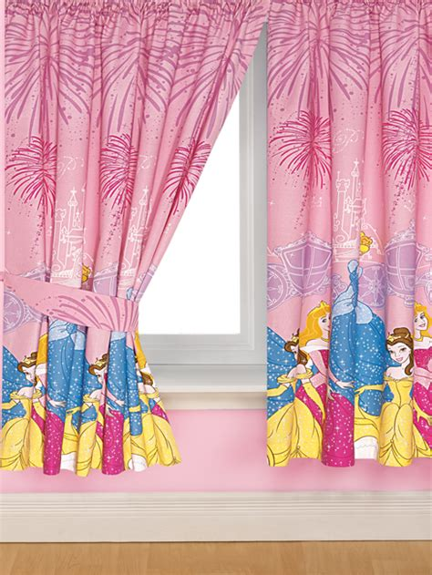 disney princess drapes curtain fabric with red flowers characterization the