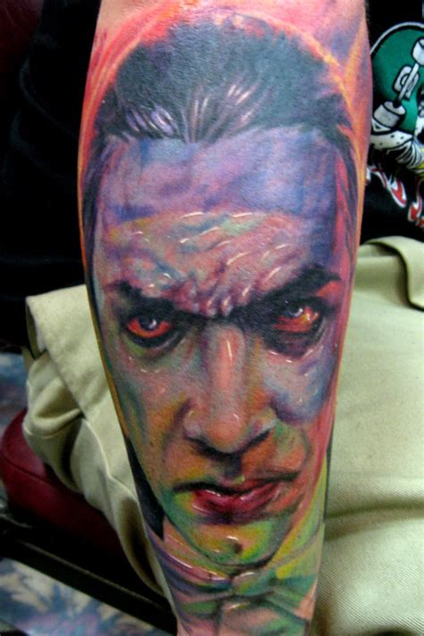 paul acker tattoo bela lugosi by paul acker tattoonow