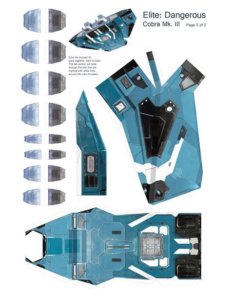 Sci Fi Papercraft - elite dangerous cobra mk iii papercraft album on imgur