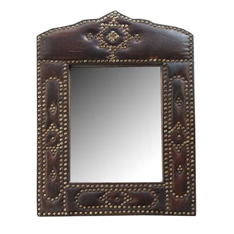 L V Mirror Italy Leather Size 25 Cm Best Quality Include Box 3 550 leather framed mirror for sale at 1stdibs
