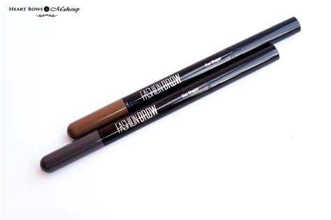 Maybelline Pensil Alis Fashion Brow Duo Shaper maybelline fashion brow duo shaper brown grey review swatches price india bows makeup