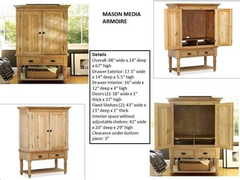 mason media armoire mason media armoire costa rican furniture