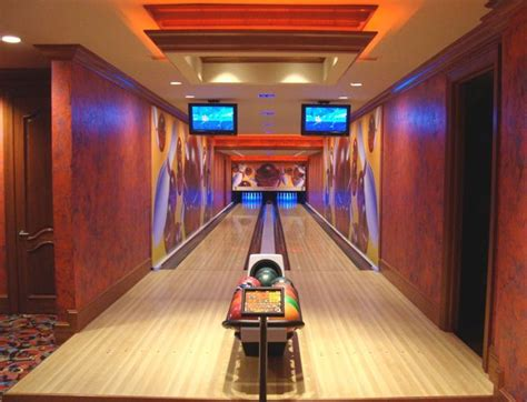 basement bowling alley just two lanes