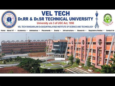Mba In Weekend In Chennai by Vel Tech Technical Offers B Tech Admissions