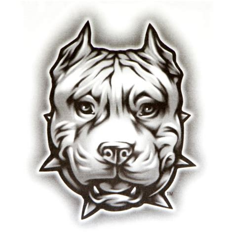 og abel realistic temporary tattoo quot pit face quot dog