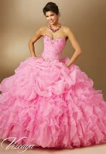 jeweled beading on organza quinceanera dress style 89048