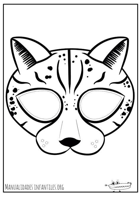 imagenes de bebe jaguar para colorear dibujos de m 225 scaras para colorear manualidades infantiles