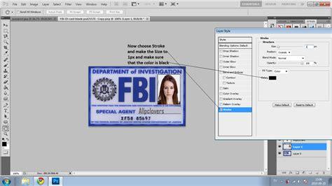 id card make how to make a fbi id card software and