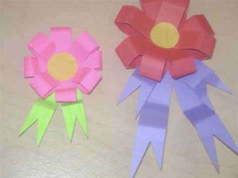 How To Make A Paper Badge - how to make an award prize flower or ribbon ep