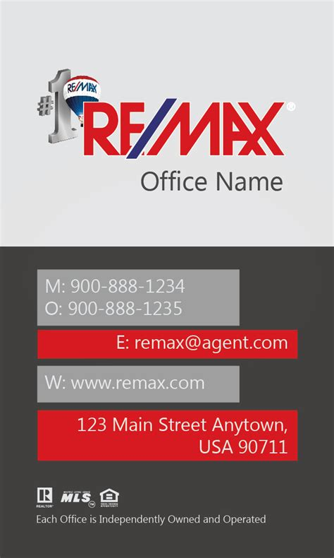 remax business cards templates vertical remax business card gray design 101441
