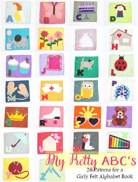 c is for cake felt alphabet book pattern and giveaway