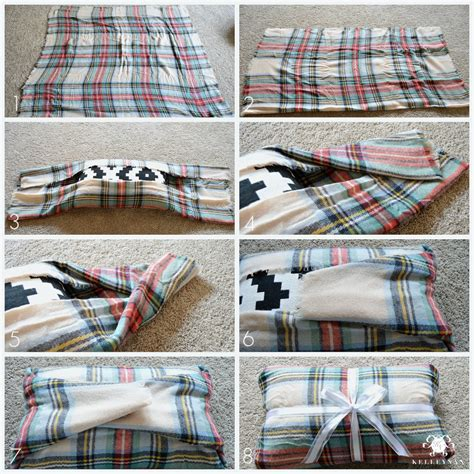 How To Make A Blanket Pillow by Diy No Sew Blanket Scarf Pillow Tutorial